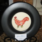 Rooster plates - $25 each