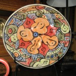 Medium hand-painted bowl - $65