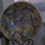 Medium hand-painted bowl - $65 w/ stand
