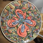 Large hand-painted bowl - $225