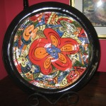 Large hand-painted nested bowl - $175