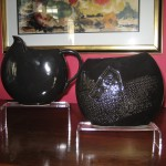 Disc pitcher - $36; Disc vase - $28