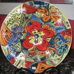 Large hand-painted bowl - $175