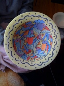 Hand-painted Serving Bowl - BEFORE