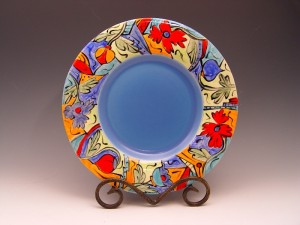 Hand-painted plates - AFTER