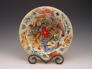 Hand-painted Serving Bowl - AFTER