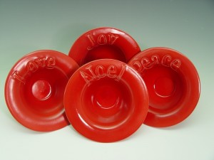 Love, Joy, Peace, Noel Bowls - Set of 4