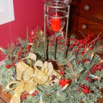 Christmas Wreath w/ Candleholder