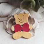 Ceramic Bear Button