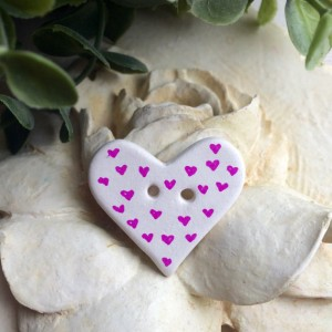 Ceramic Heart Button