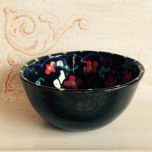 Small Ceramic Bowl with Flowers
